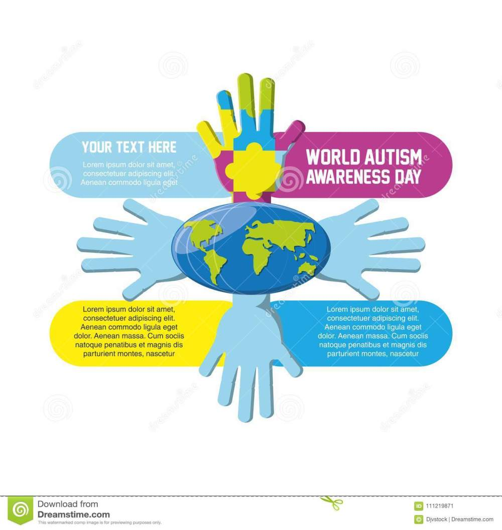medium resolution of world autism awareness day design
