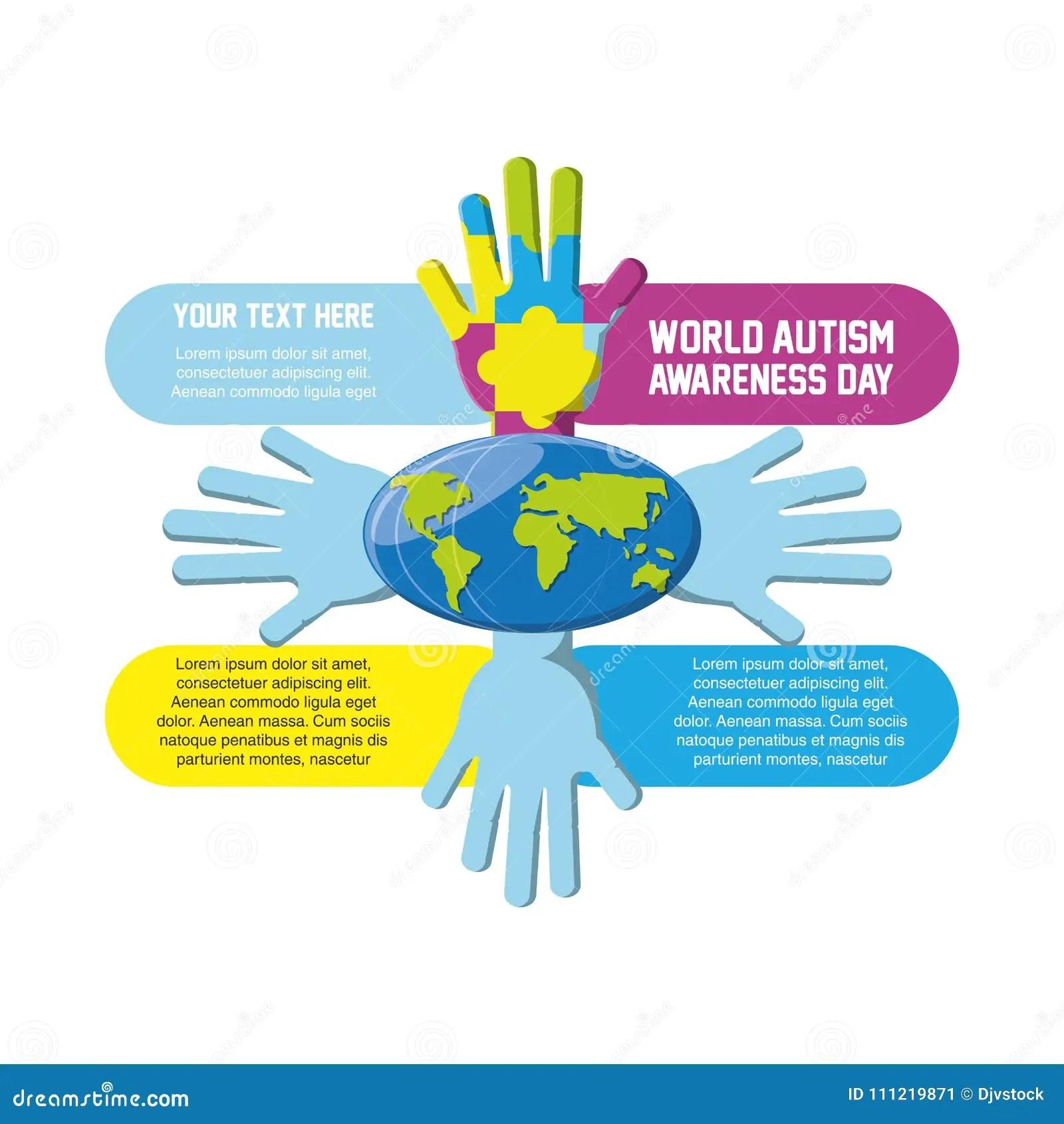 hight resolution of world autism awareness day design