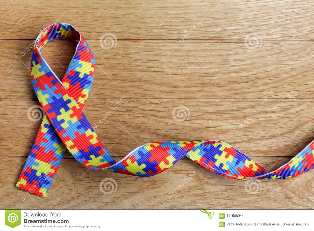 World Autism Awareness And Pride Day Or Month With Puzzle