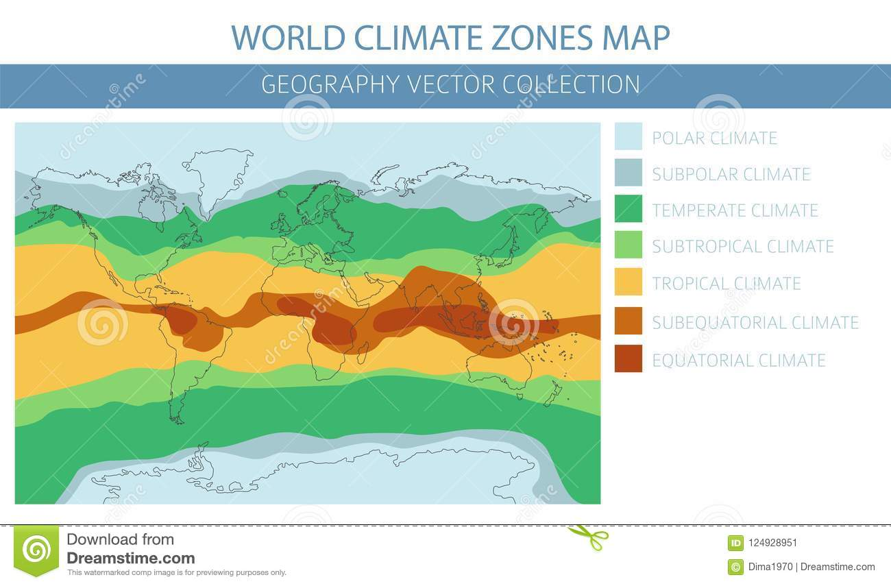 World Climate Zones Map Elements Build Your Own Geography