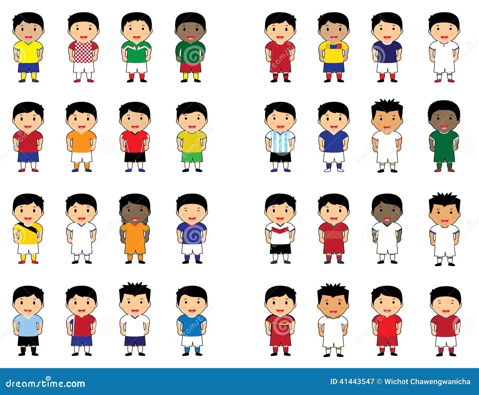 World Cup Cartoon Cute Stock Vector Illustration Of Icon