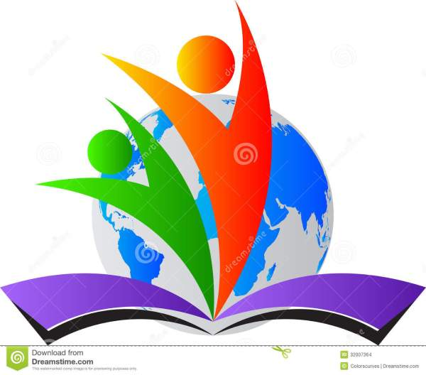 World Education Logo Stock Vector. Illustration Of