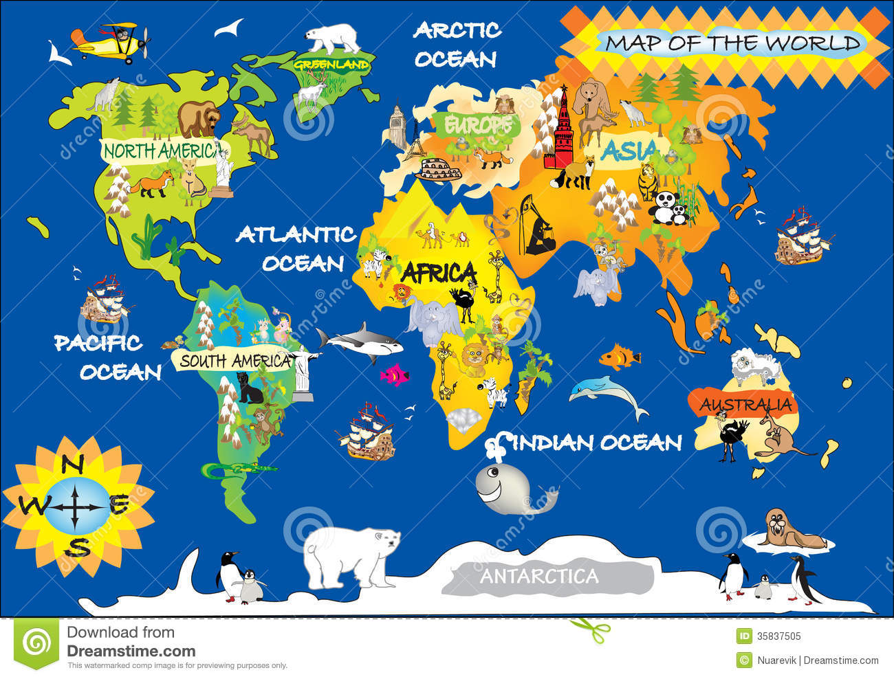 World Kids Map Royalty Free Stock Photo