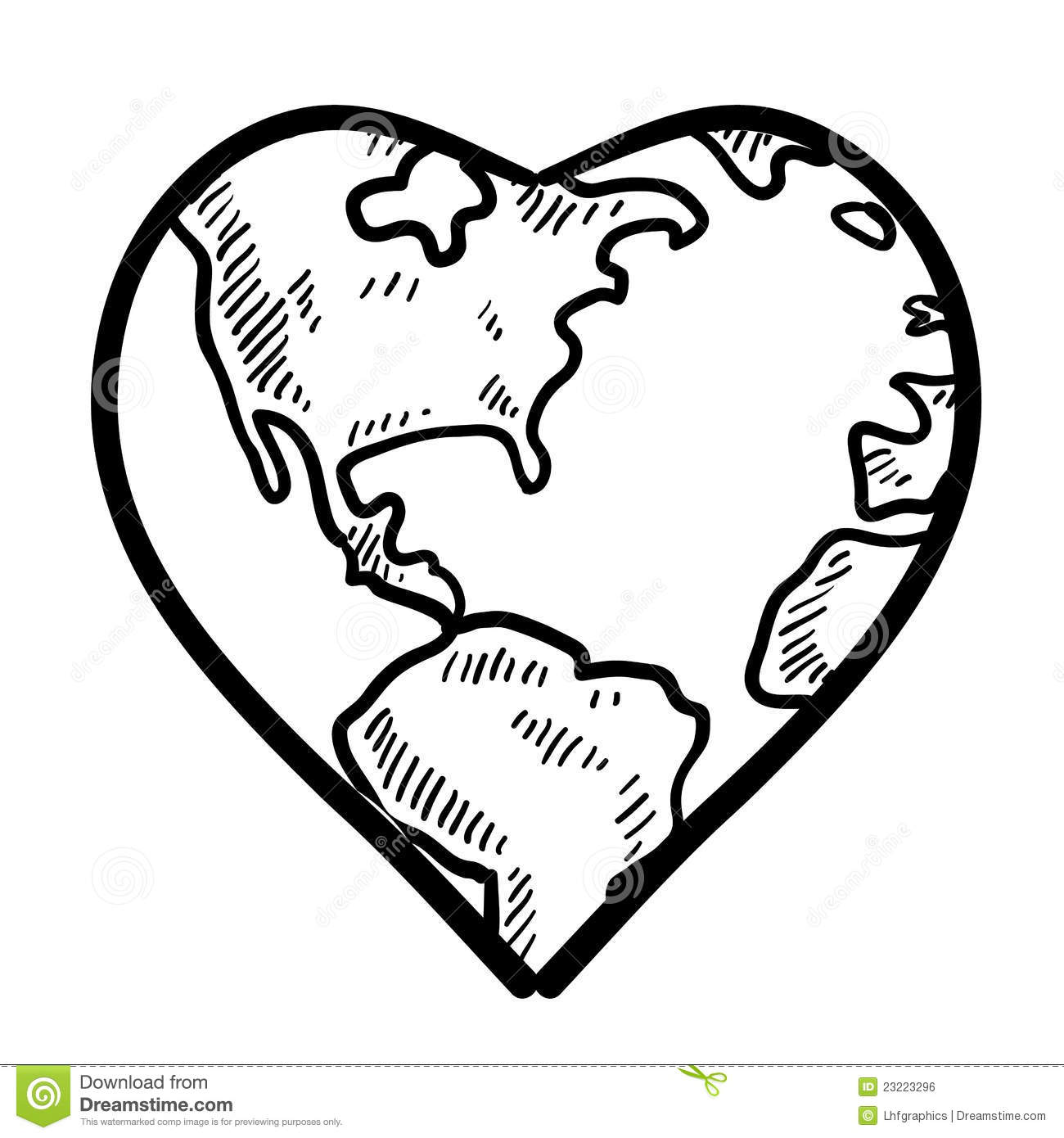 World Love Sketch Stock Vector Illustration Of Lust