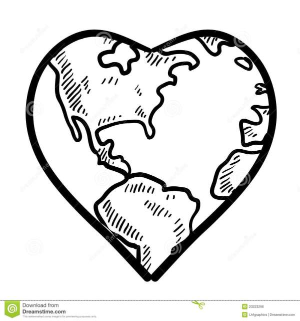 World Love Sketch Royalty Free Stock Image Image 23223296