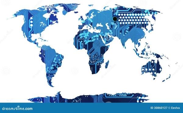 World Map Royalty Free Stock Photography Image 30860127