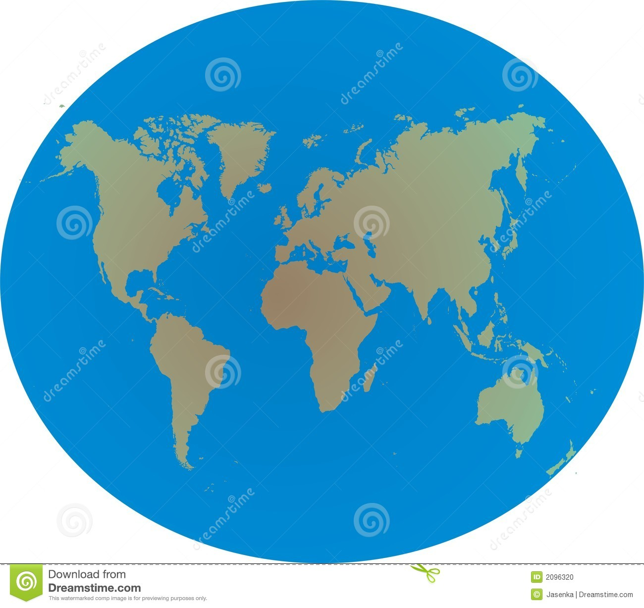 World Map On Globe Stock Photo