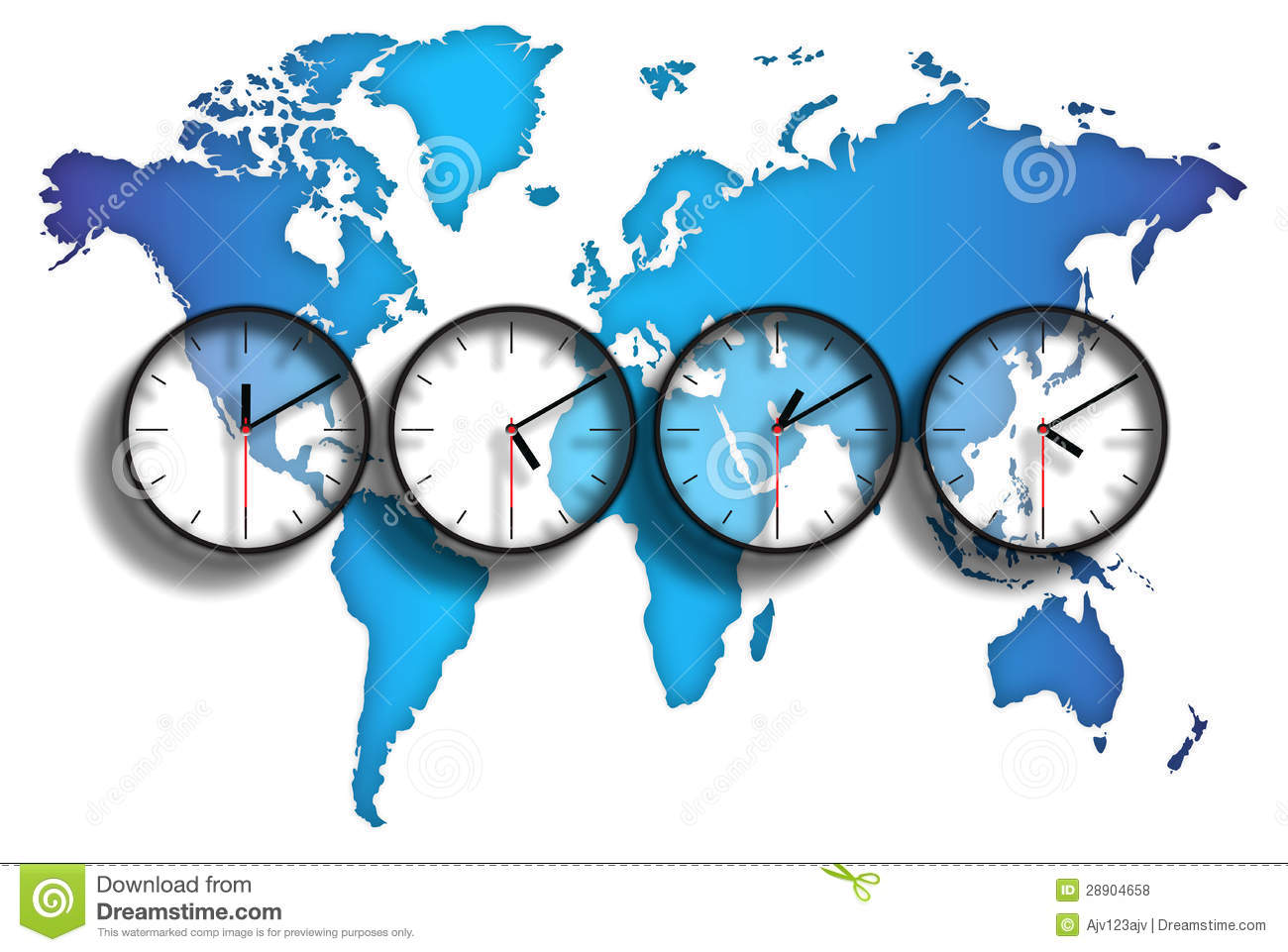 Us Time Zone Differences Clock