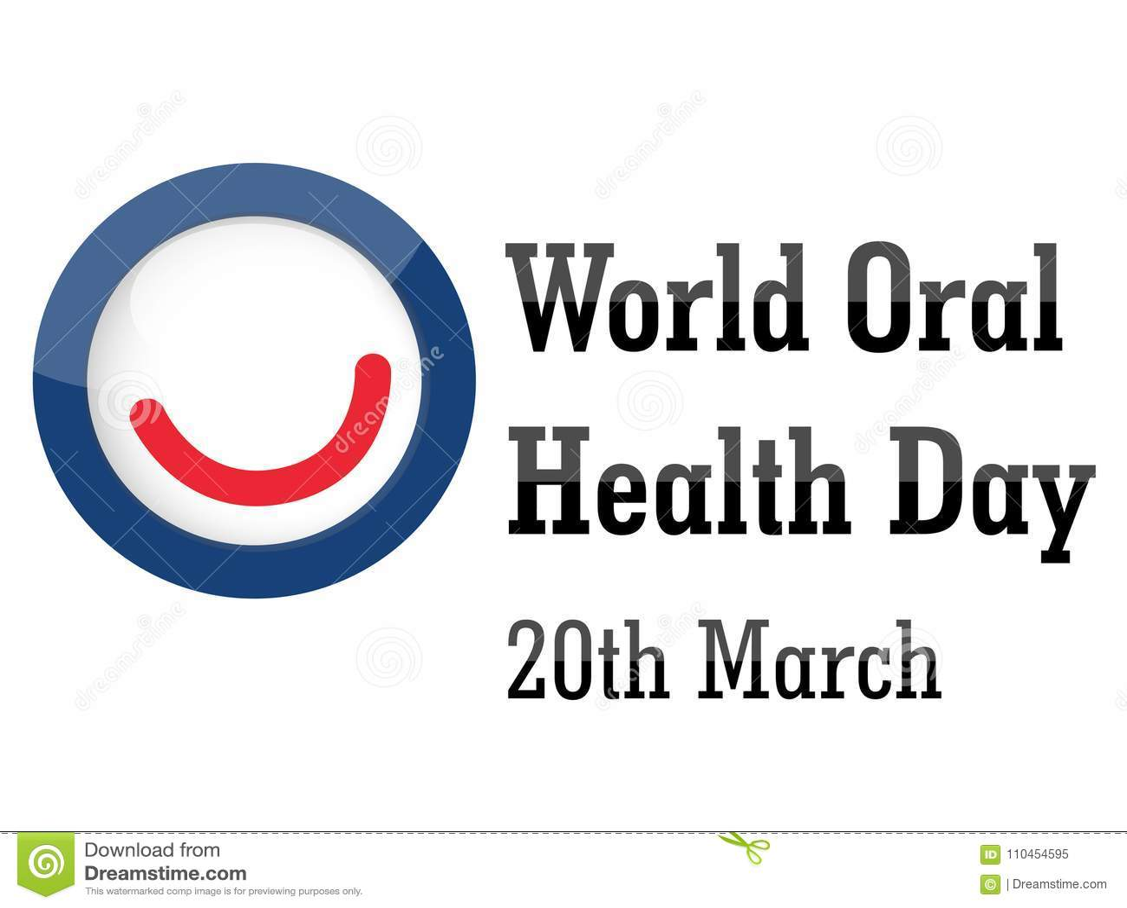 World Oral Health Day Background Stock Illustration ...