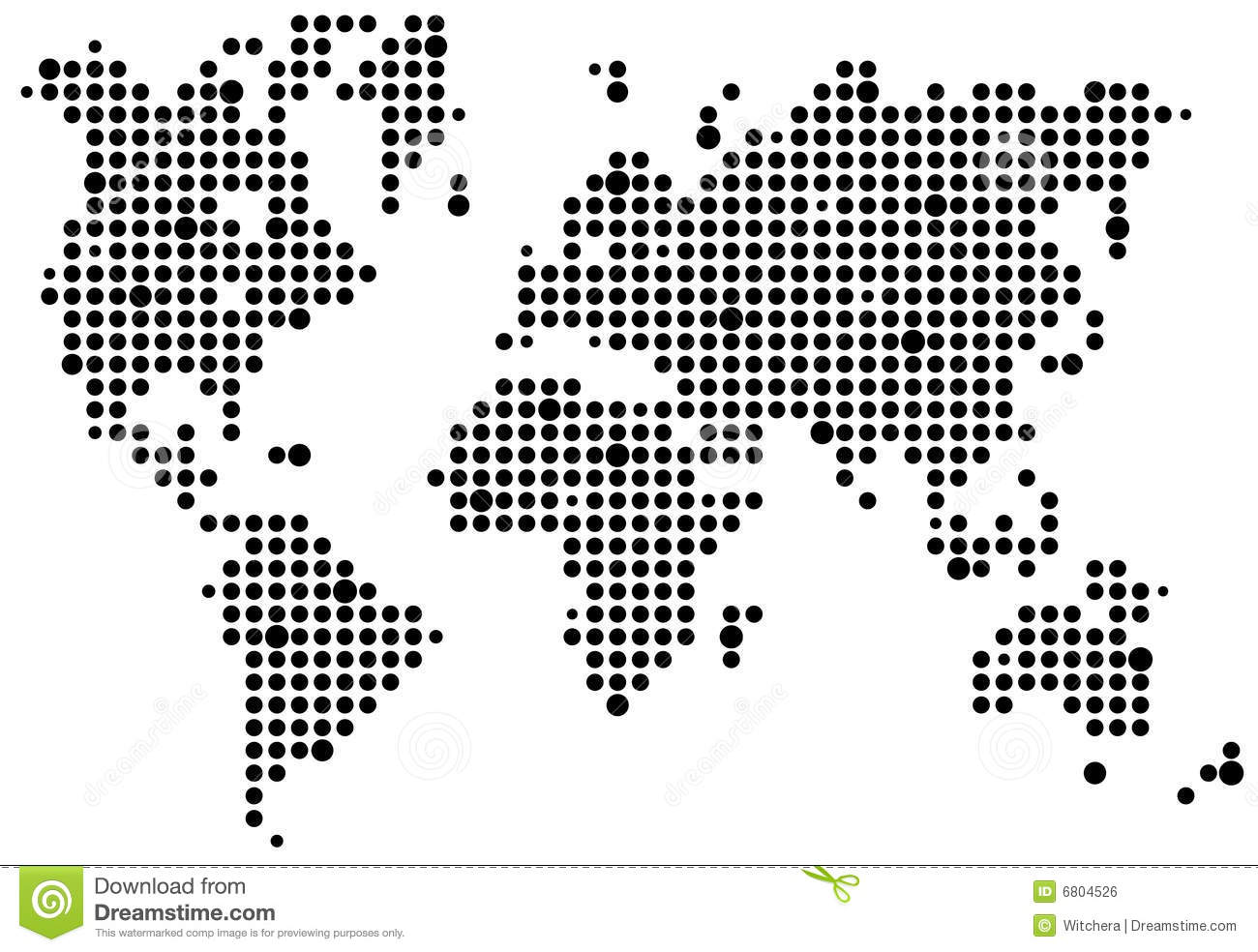 World Pixel Map Stock Illustration Illustration Of World