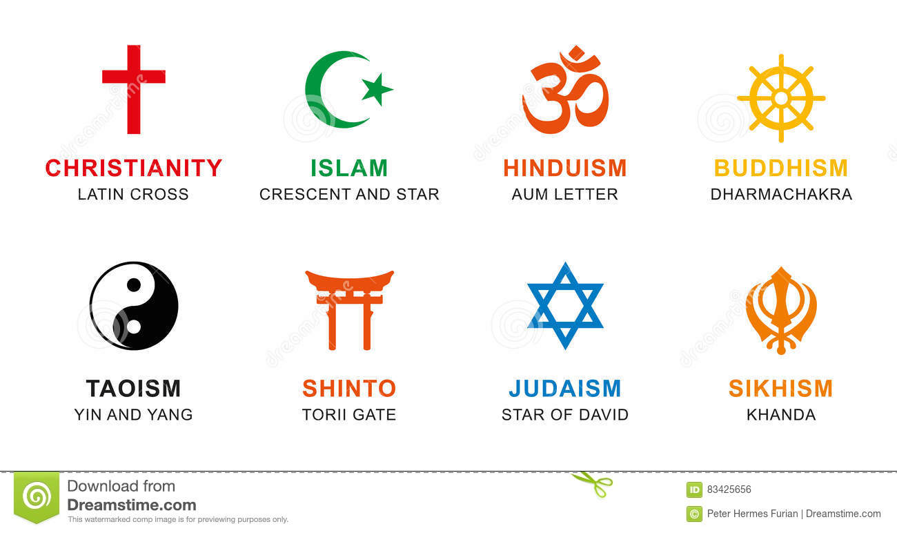 Major World Religions Symbols Pictures To Pin