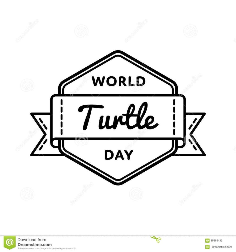 medium resolution of world turtle day greeting emblem