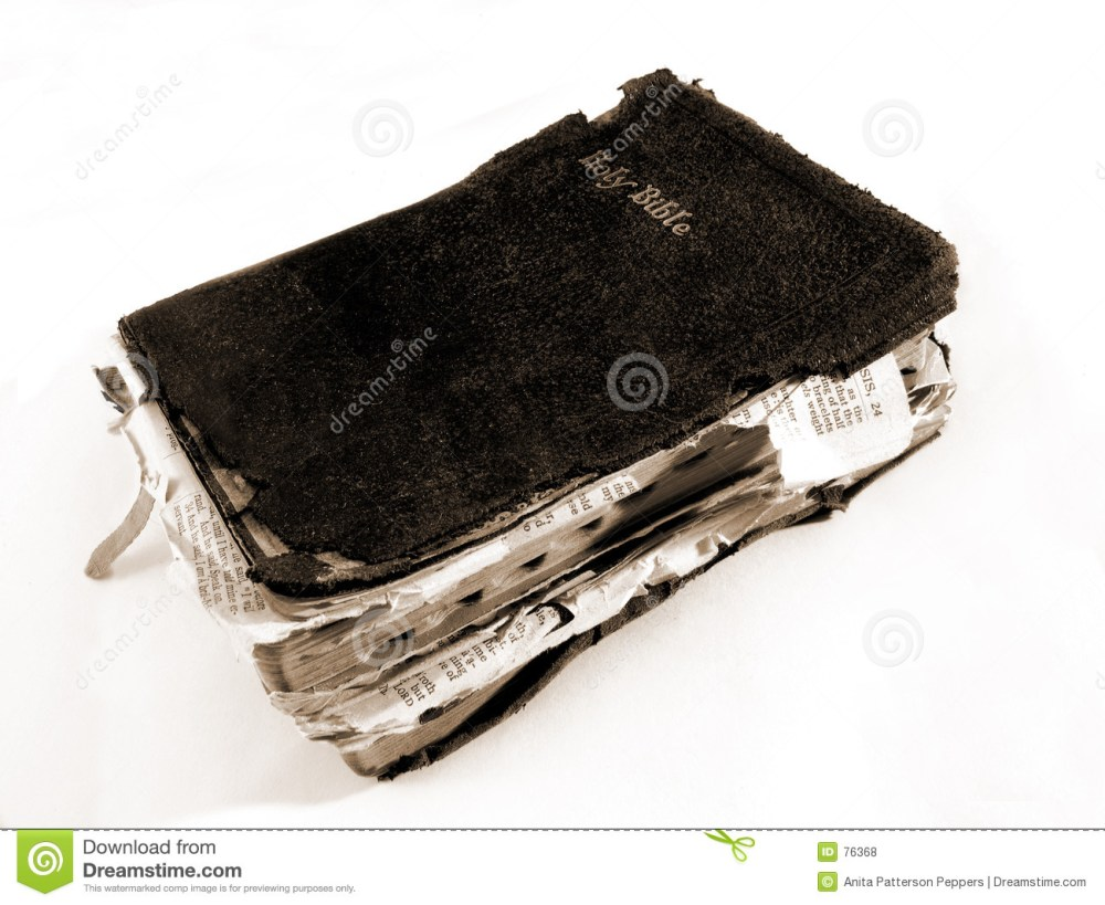 medium resolution of worn bible