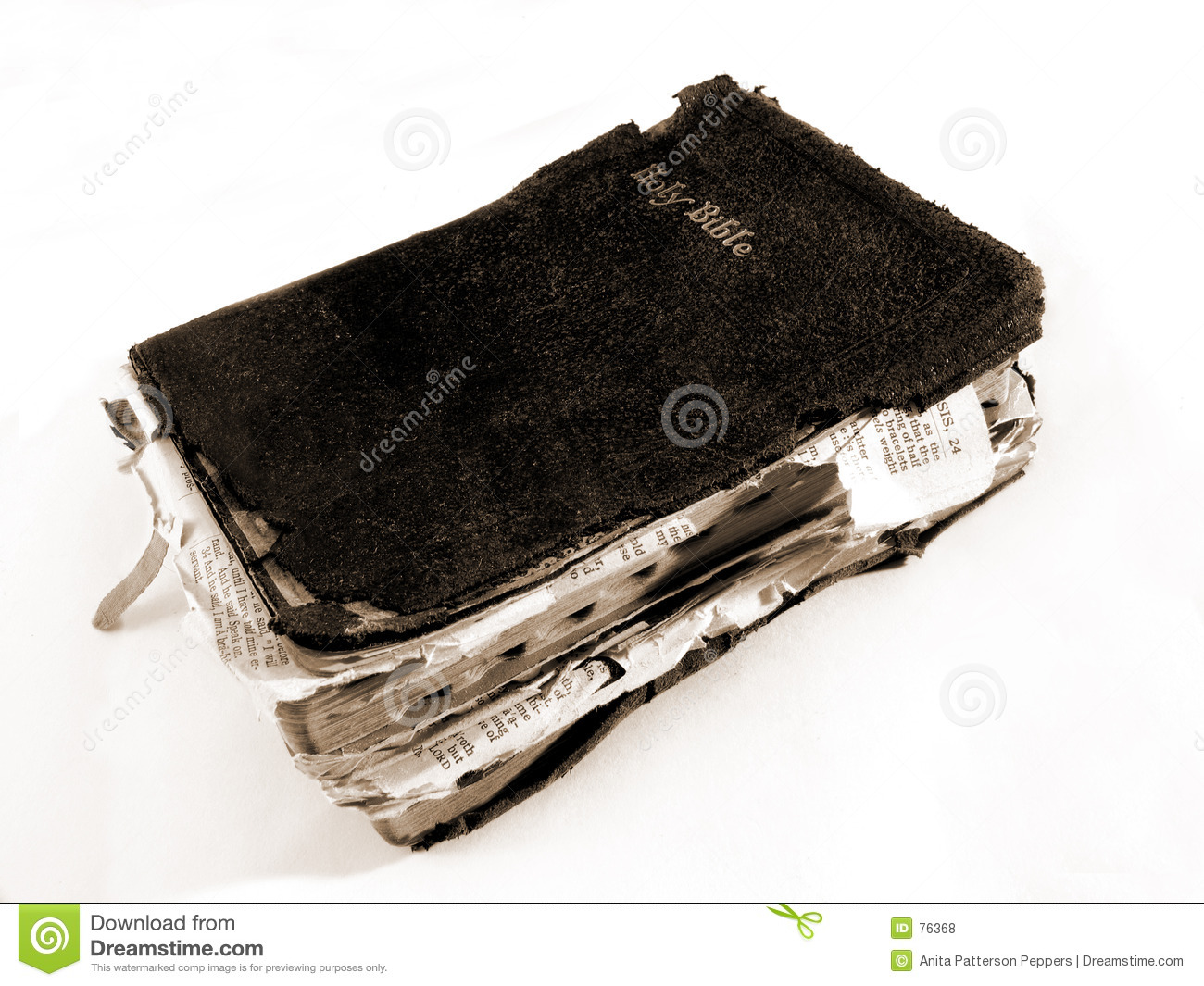 hight resolution of worn bible