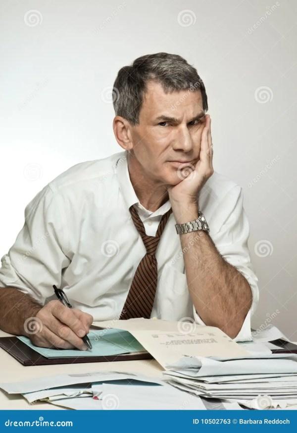 Man Paying Bills Stressed