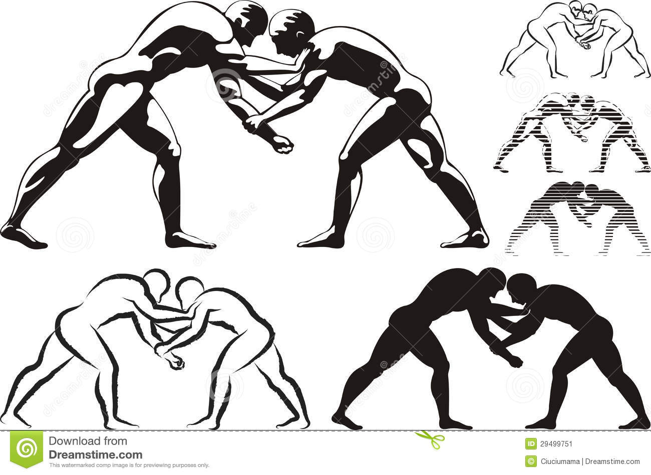Wrestling Stock Vector Illustration Of Hand Body Strong