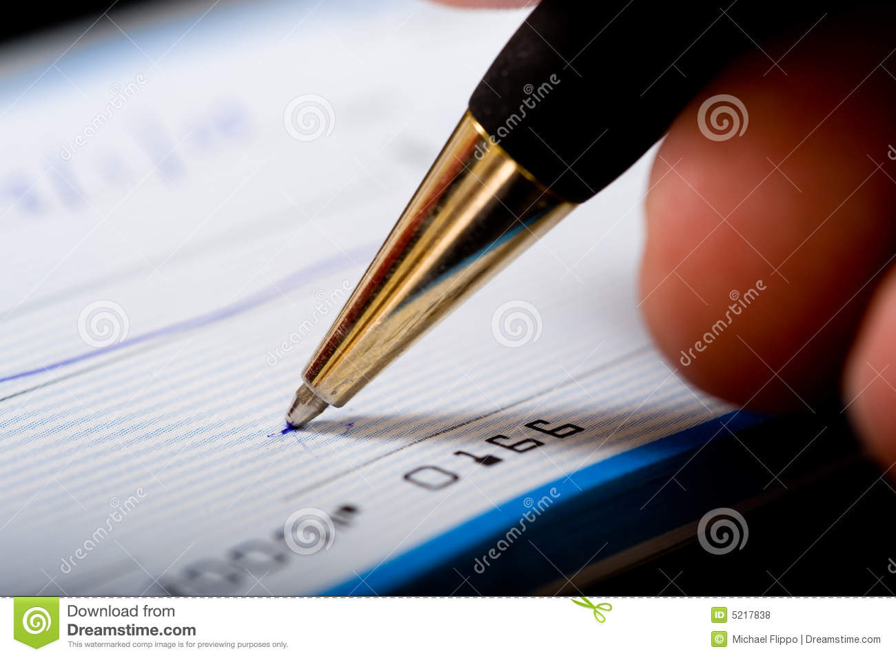 Writing A Check Stock Photo Image Of Sign Write Check