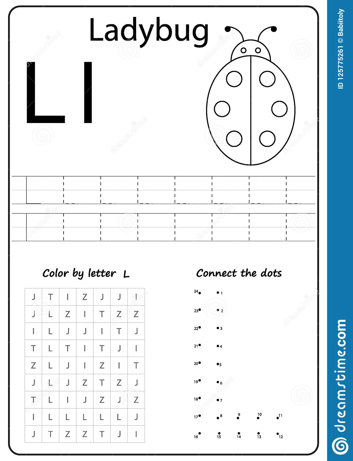 Writing Letter L Worksheet Writing A Z Alphabet Exercises Game For Kids Stock Vector