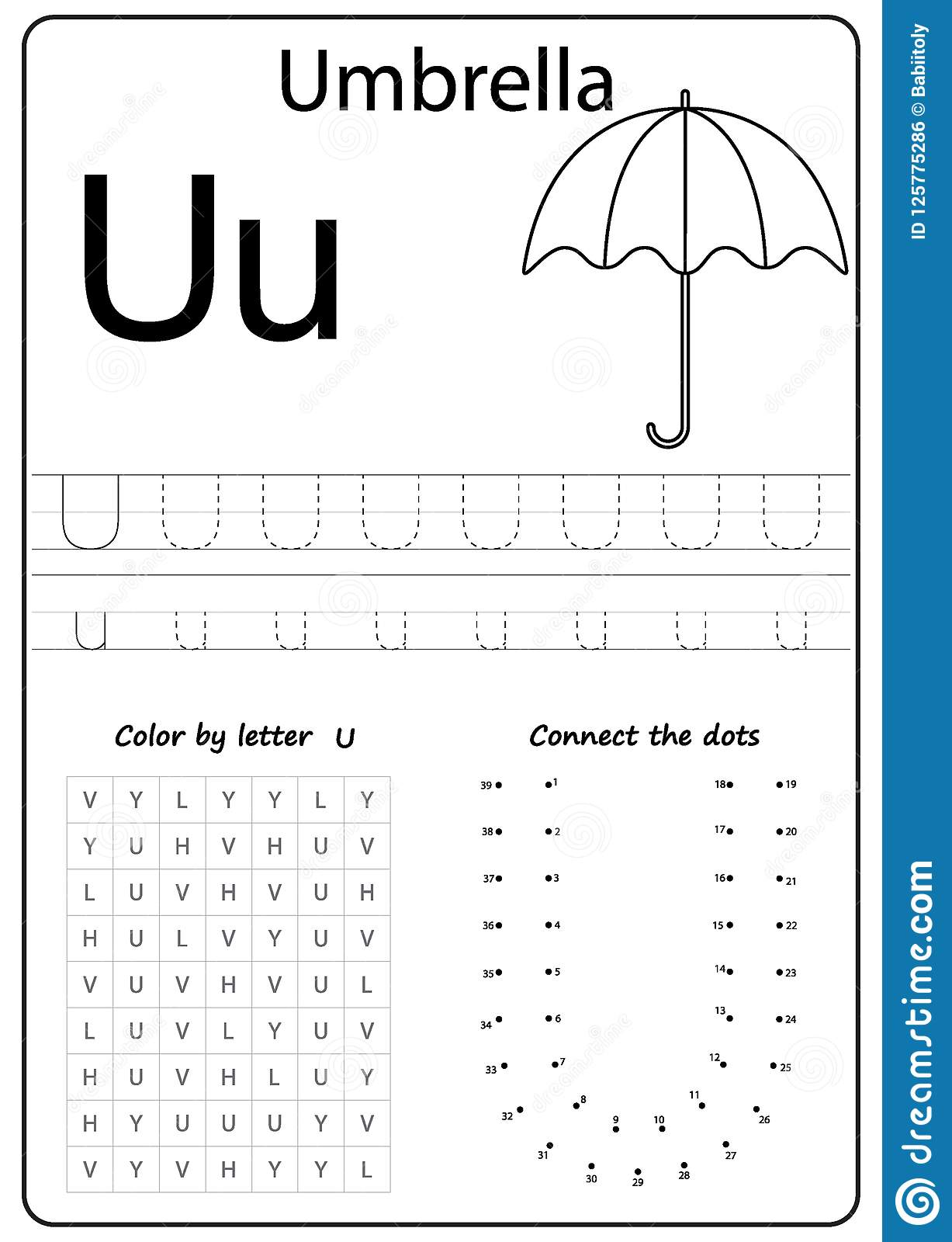Alphafriends Letter U Worksheet
