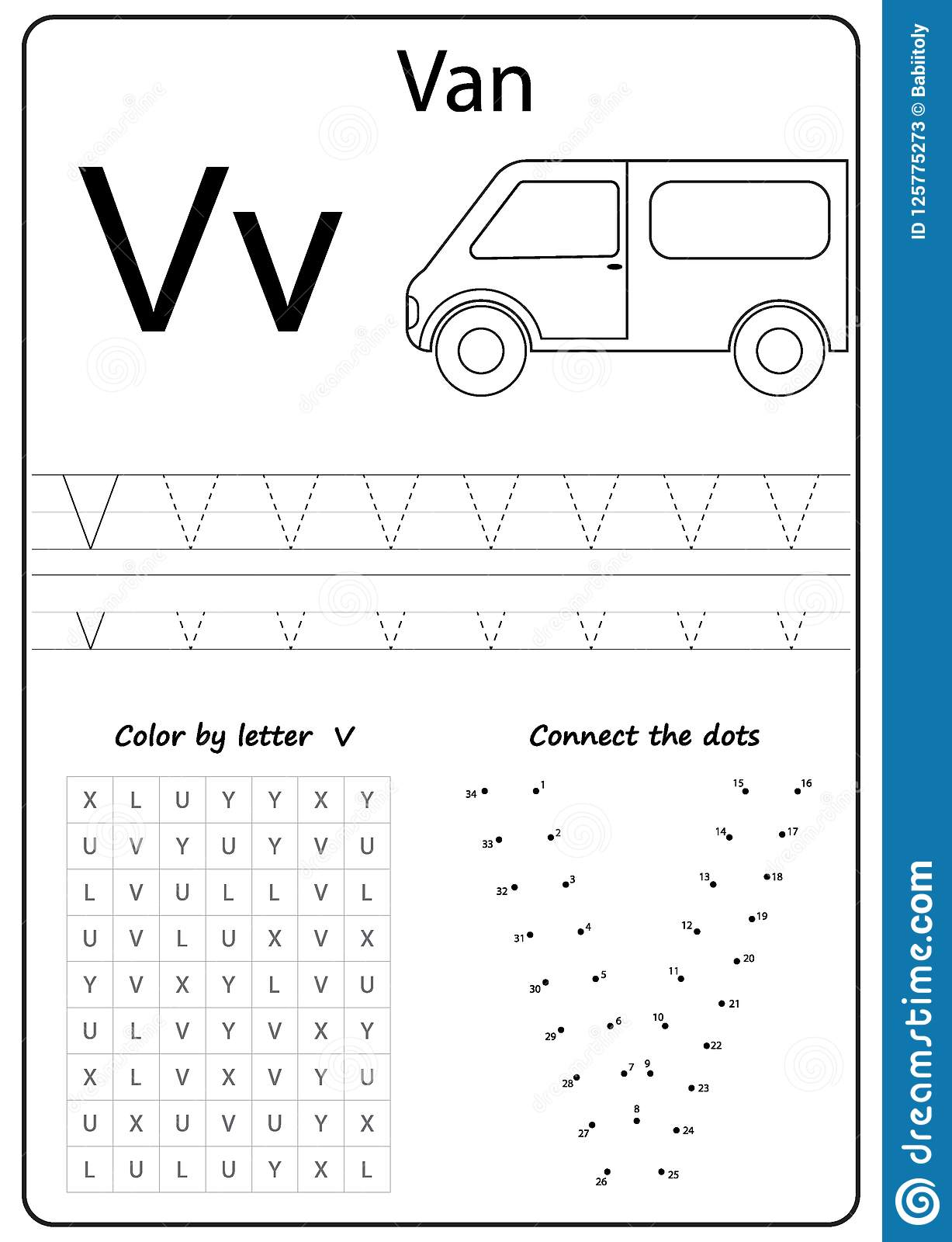 Writing Letter V Worksheet Writing A Z Alphabet