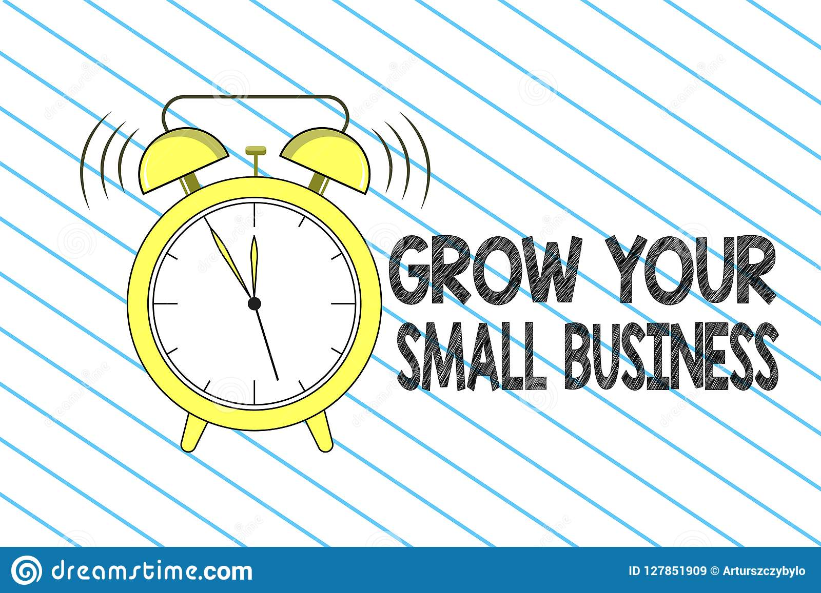 Writing Note Showing Grow Your Small Business Business