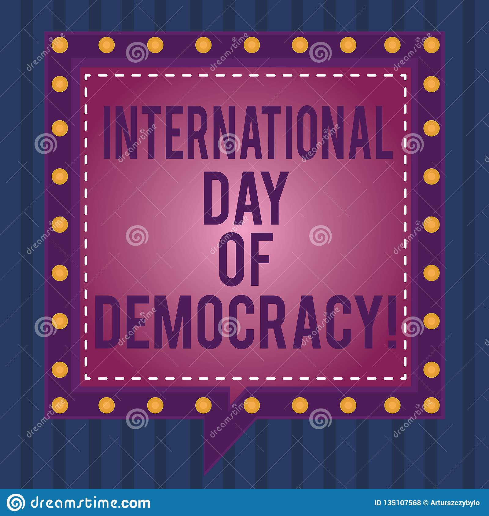 Writing Note Showing International Day Of Democracy