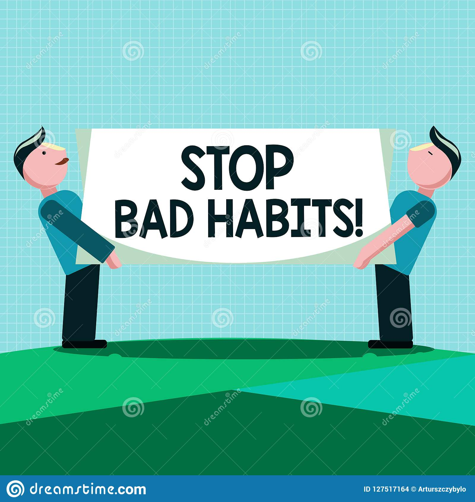 Writing Note Showing Stop Bad Habits Business Photo