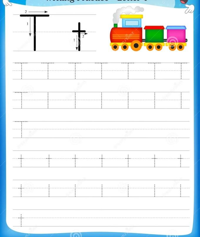 Writing Letter T Worksheets For Kindergarten Dulahotw