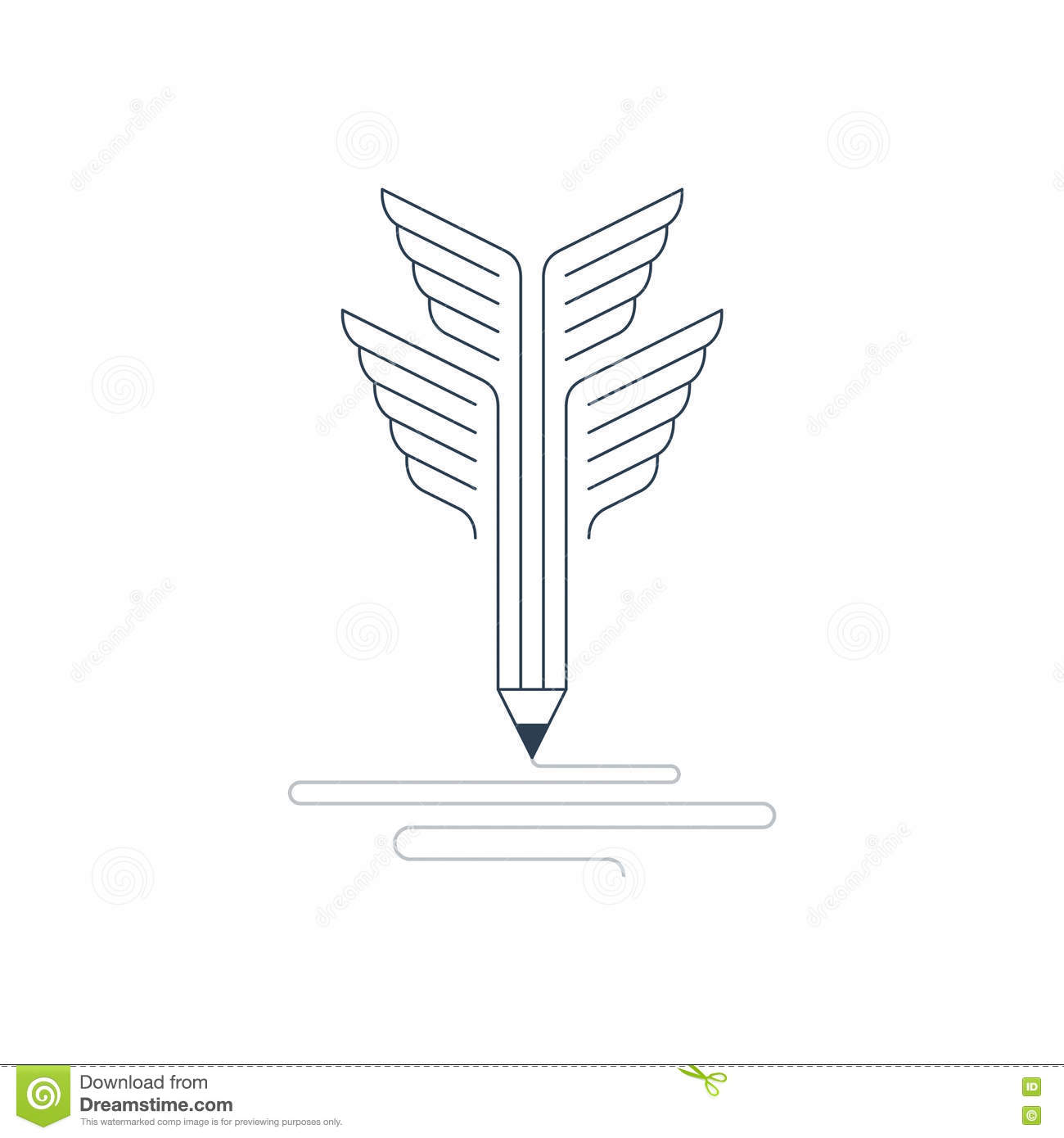 Writing Skills Development Painting Class Icon Vector Illustration