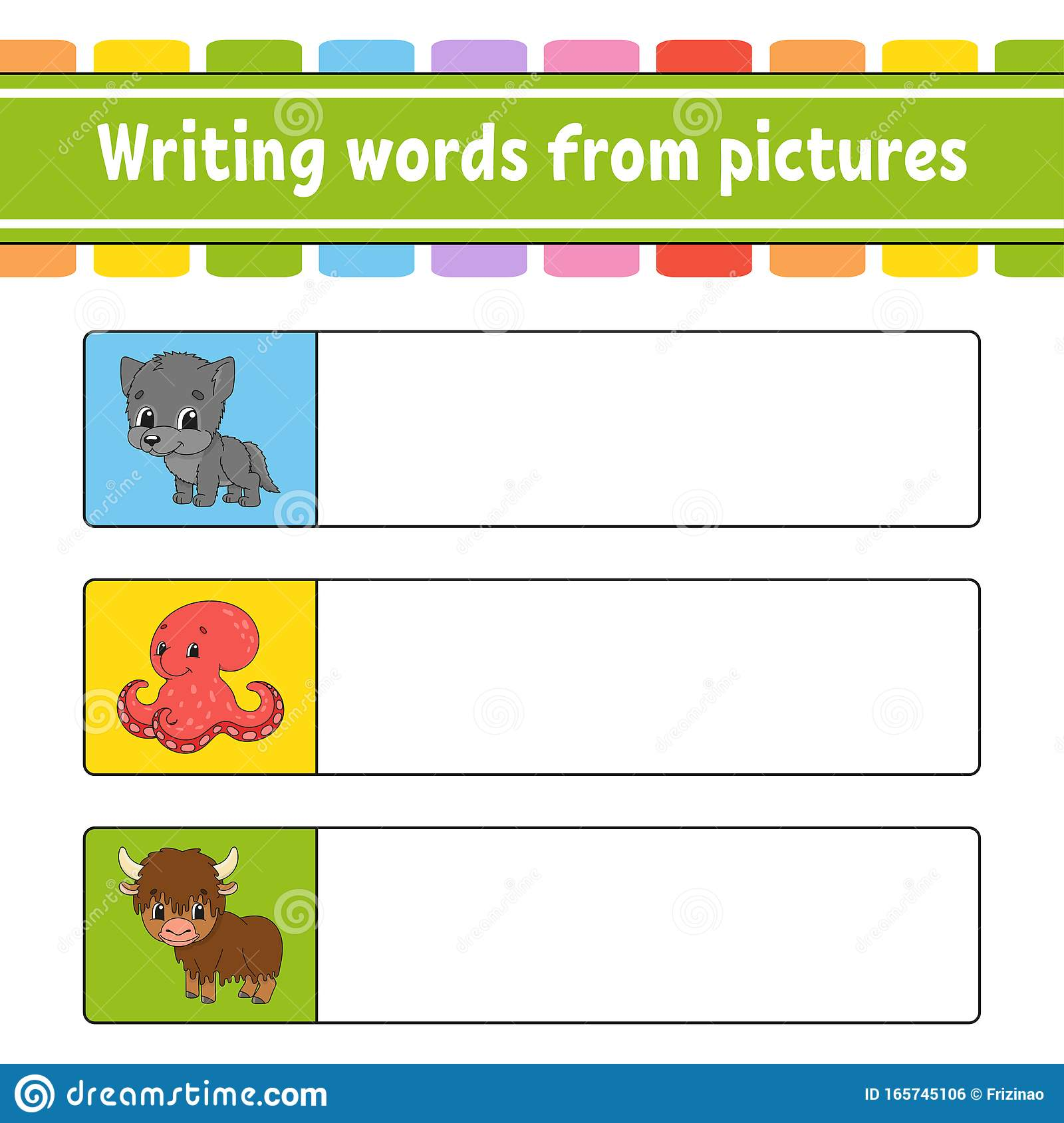 Writing Words From Pictures Education Developing