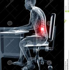 Sitting Posture On Chair In Office Swivel Rocking Recliner Wrong Stock Photo - Image: 34165760