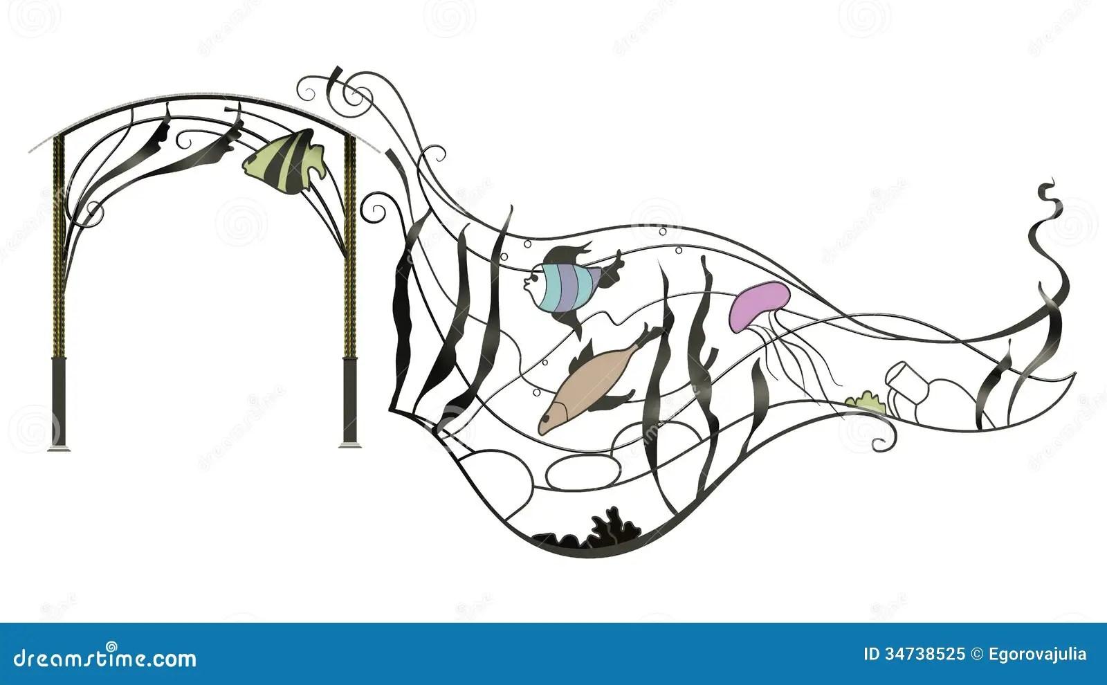 Wrought Iron Canopy Royalty Free Stock Photo