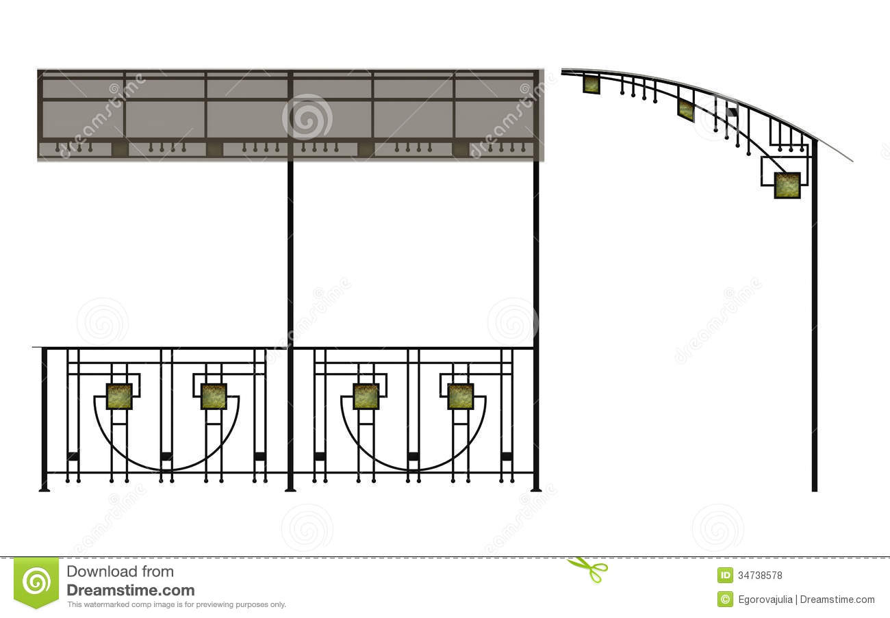 hight resolution of wrought iron stairs railing