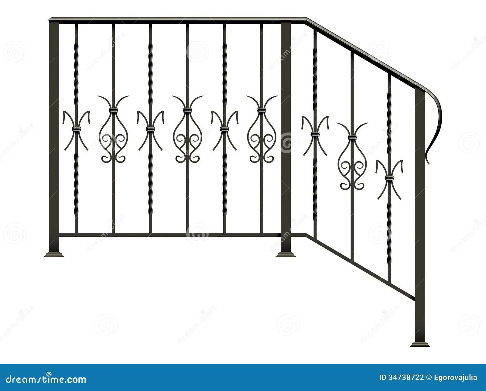 Wrought Iron Stairs Railing Stock Illustration