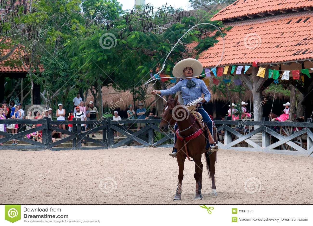 Xcaret Rodeo Show Performer Editorial Stock Photo - Image: 23879558