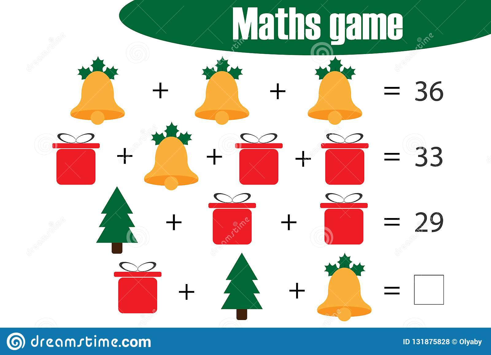 Xmas Maths Game With Pictures