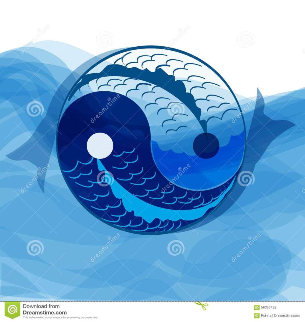 medium resolution of yan yi symbol of harmony and balance with koi fish