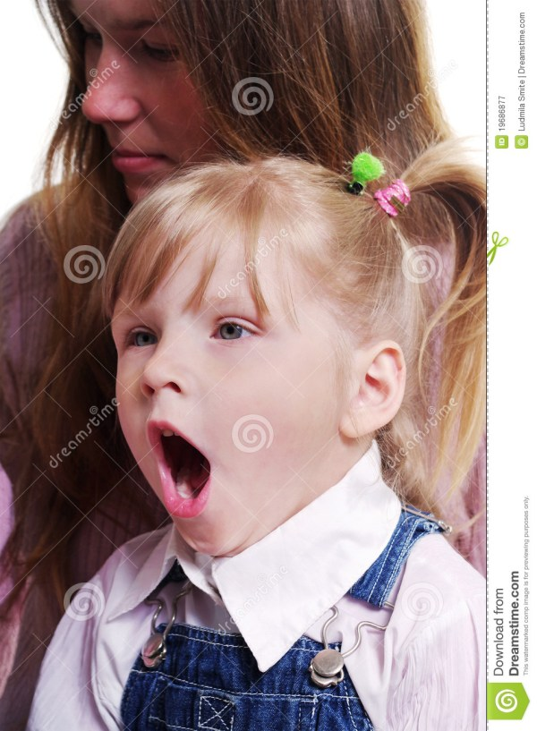 Yawning Girl. Stock Of Front Family Blank - 19686877