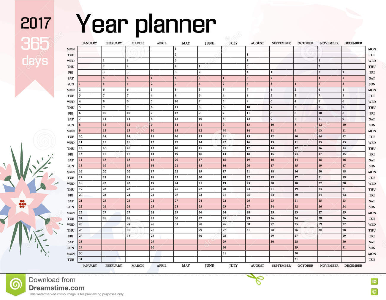 Year Wall Planner. Plan Out Your Whole With This 2017 . Yearly ...