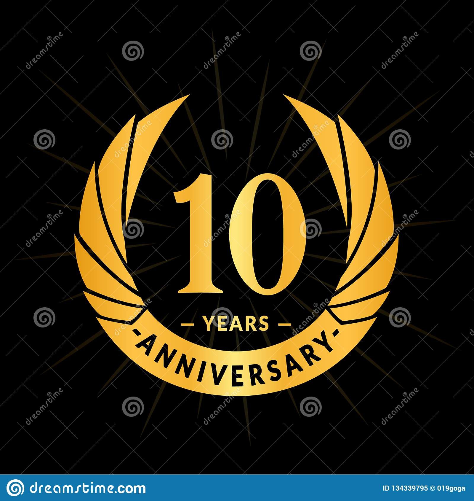10 years anniversary design