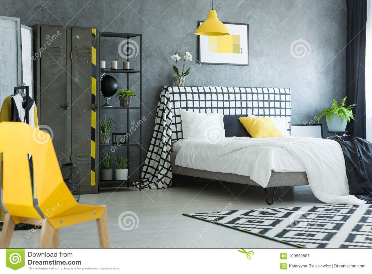 yellow bedroom chair club chairs leather designer in stock image of
