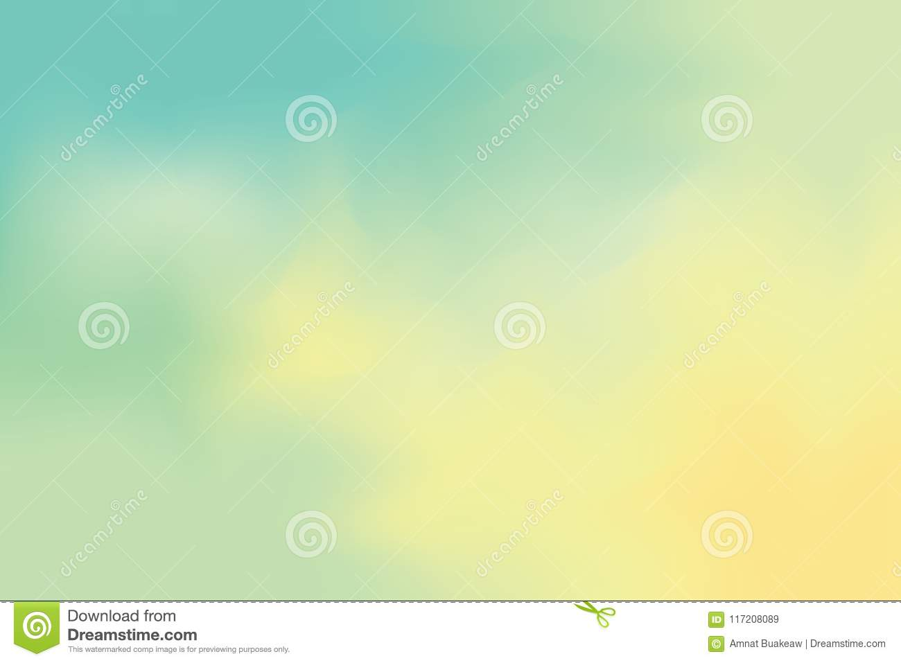 Yellow Green Soft Color Mixed Background Painting Art