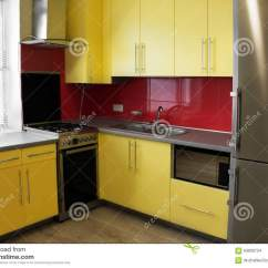 Yellow Kitchen Appliances German Knives Stock Photo Image 63830724