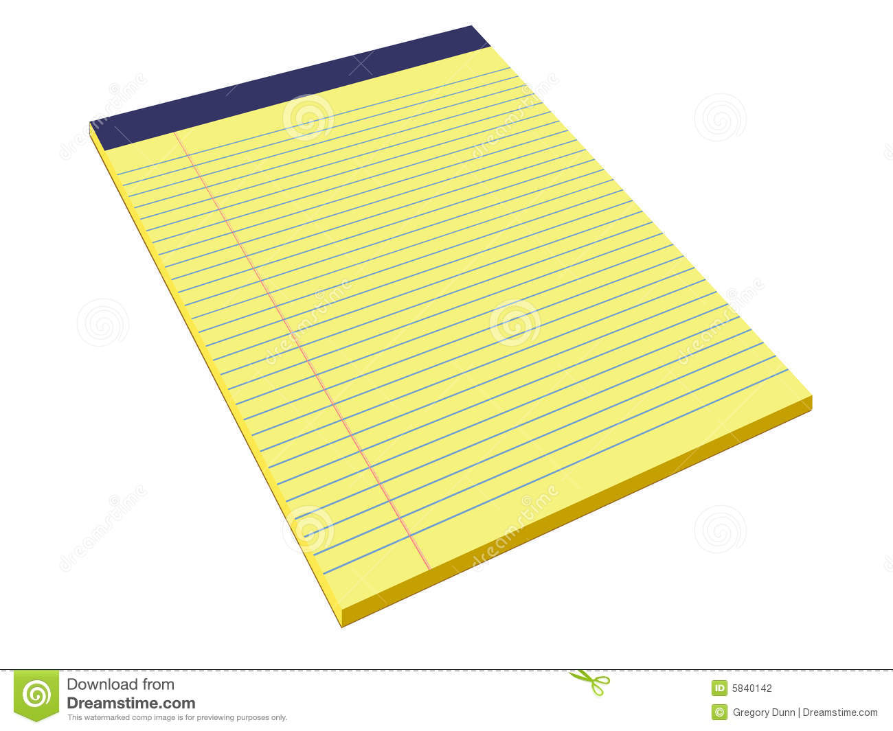 Yellow Legal Pad Stock Photography