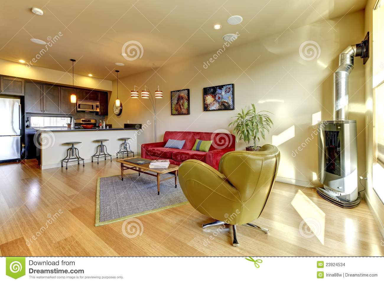 sofa in the kitchen factory uk yellow living room ith red and stock images