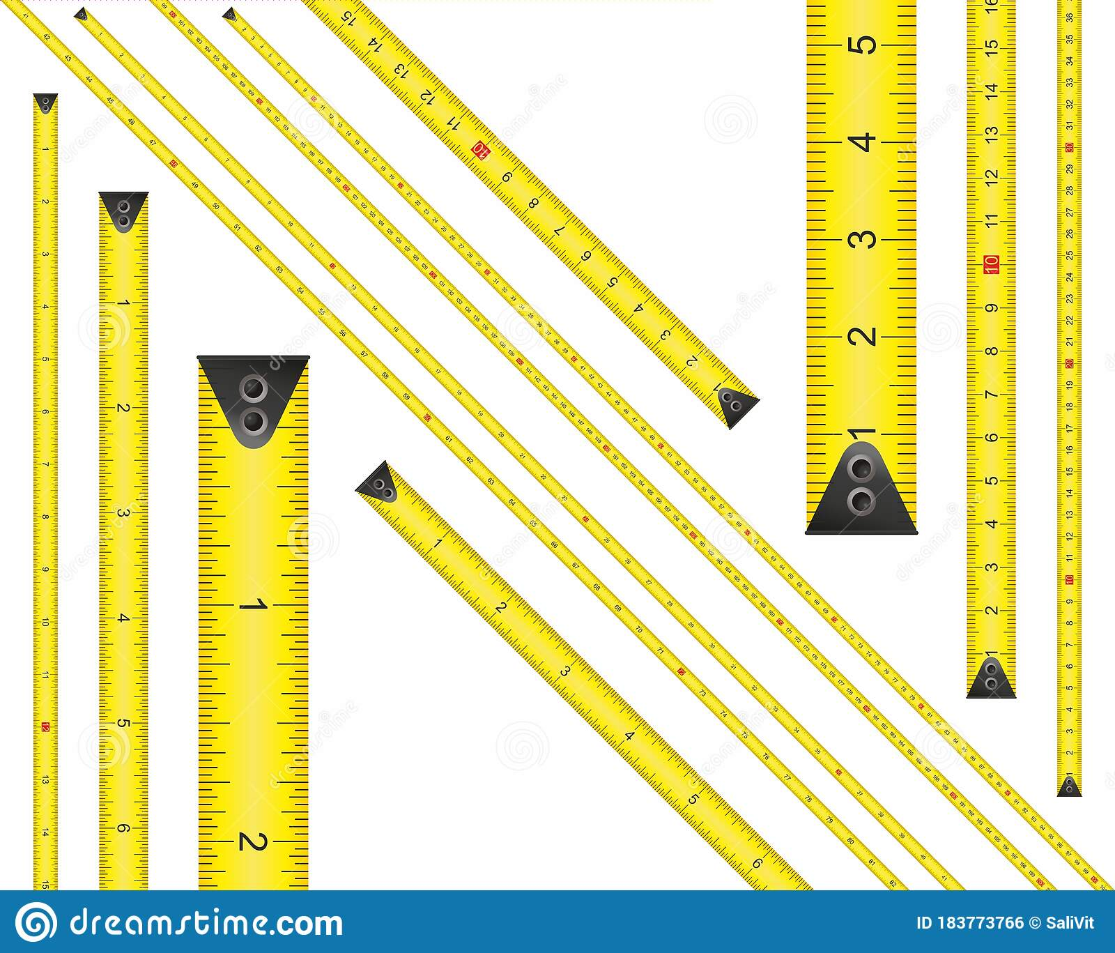 Yellow Measure Tape Centimeter And Inch Dual Scale
