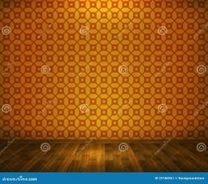 Empty Yellow Room Background 5