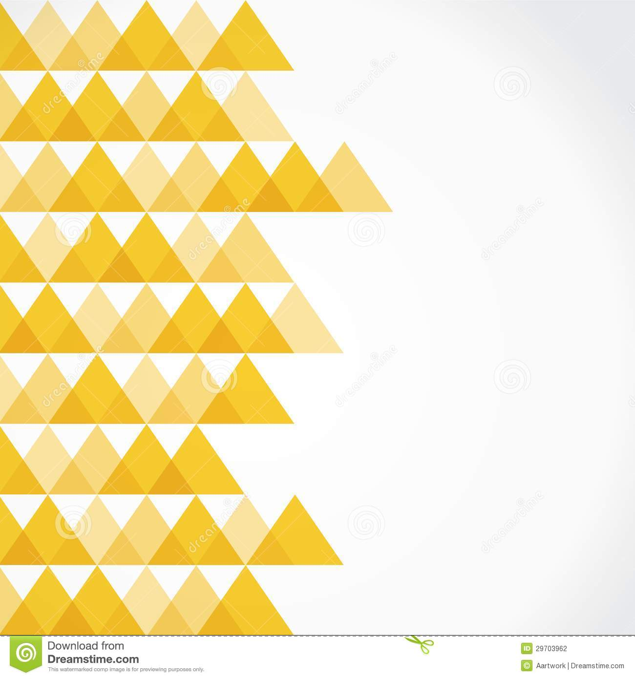 Yellow triangle background stock vector. Image of beige