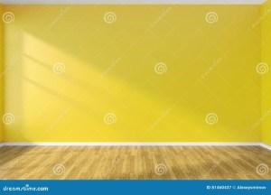 yellow floor empty wall wooden parquet illustration minimalist