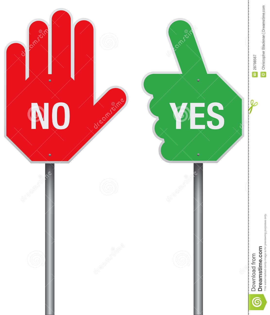 Yes And No Signs Royalty Free Stock Photography